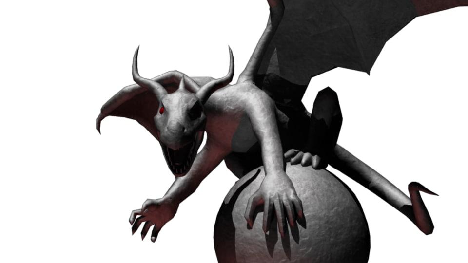 3D stone statue dragon
