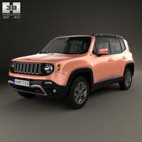 3D model jeep renegade trailhawk