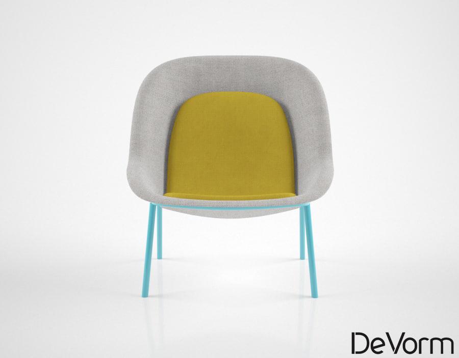 3D devoorm nook lounge chair model