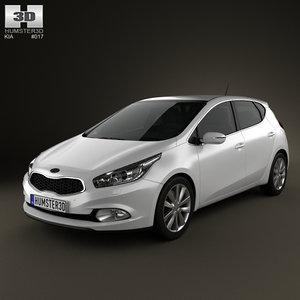 3D kia ceed 5-door model