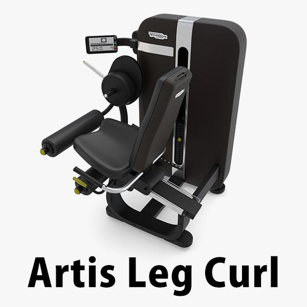 artis leg curl technogym 3D