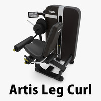 Artis Seated Leg Curl Machine Technogym