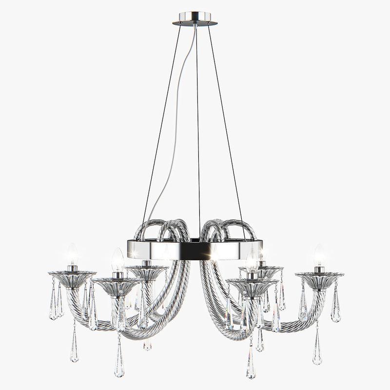 3D chandelier 821060 corno lightstar model