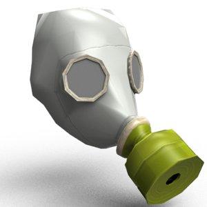 gas mask gp-5 3D model