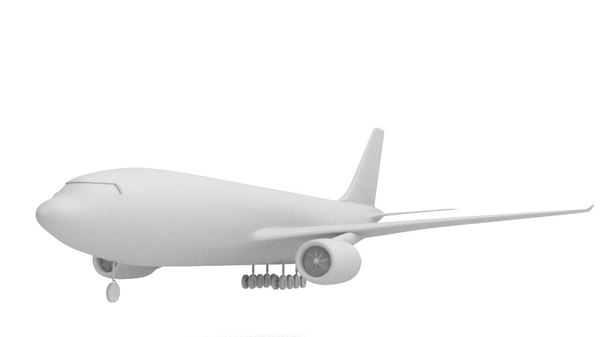 blender commercial plane model