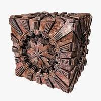 cube artifact design 3D
