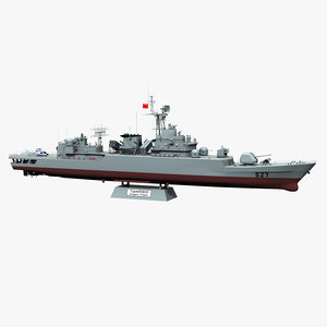 type 053h3 jiangwei frigate 3D model
