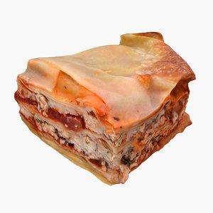 3D realistic lasagna