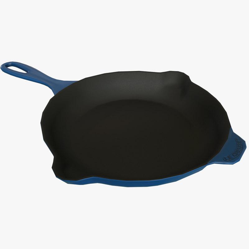 le creuset frying pan 3D
