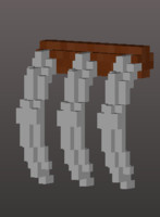 3D voxel hand claw