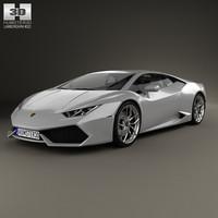 2015 lamborghini huracan 3D model