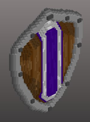 voxel kite shield 3D
