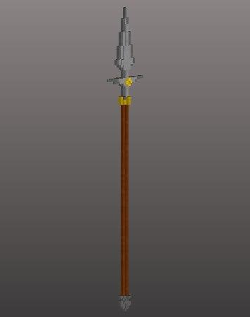 3D model voxel spear