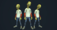 Cartoon Style 3d Zombie