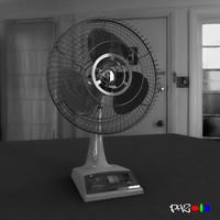 fan vintage 3D