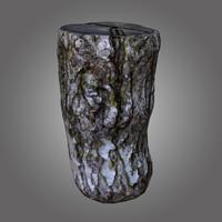 birch log pbr 3D model