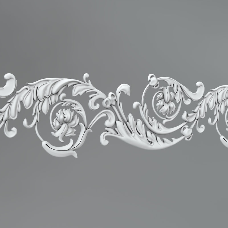 3D classical ornamental model