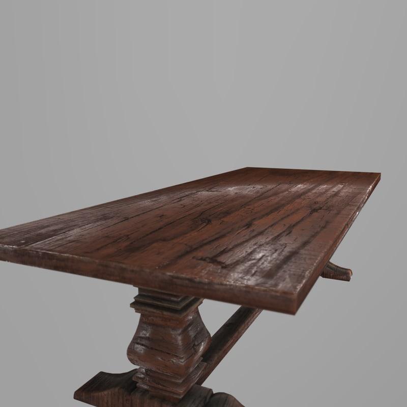 wooden table 3D model