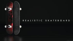 3D realisitc skateboard