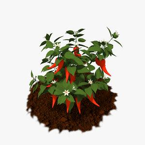 3D model cartoon plants