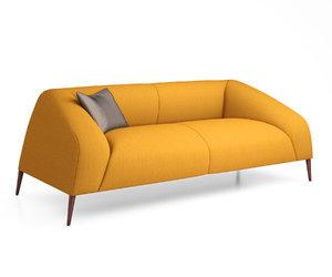 sebastian 3-seater sofa 3D model