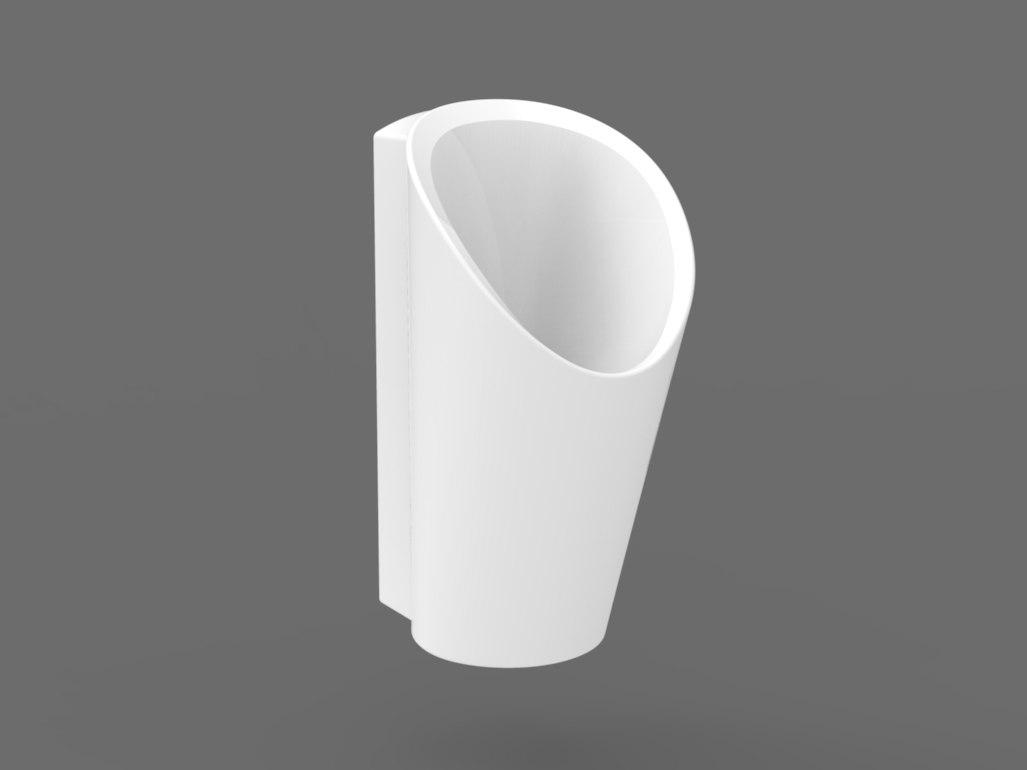 3D ceramic urinal model