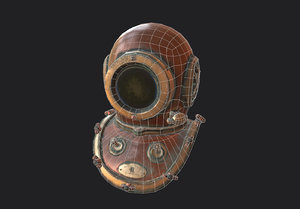 vintage diving helmet 3D model