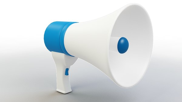 cartoon megaphone 3D model