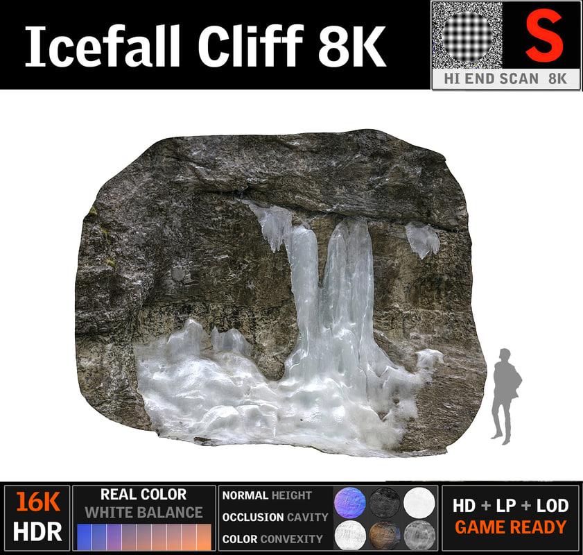 icefall cliff 8k model