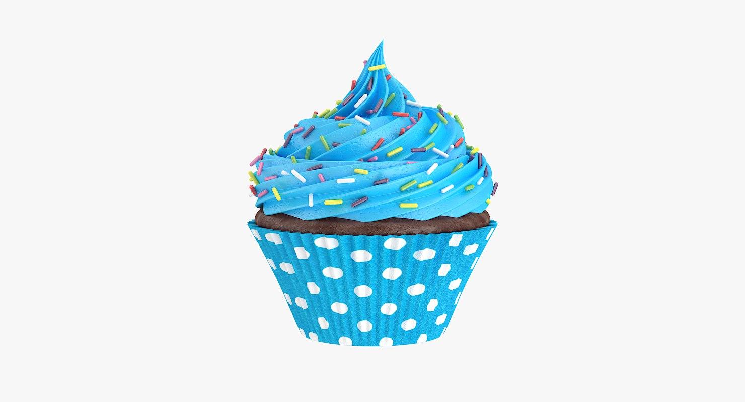 3D cupcake candy gumdrops model