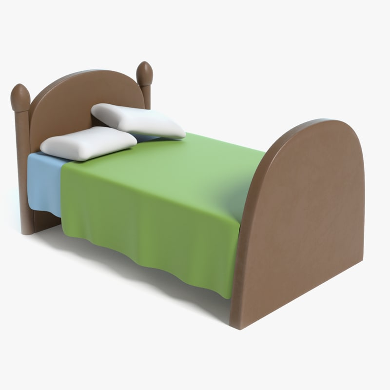 cartoon bed 3D