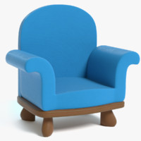 cartoon chair 3D model