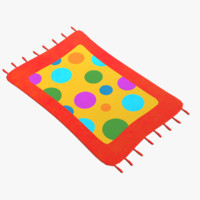 cartoon rug 3D model