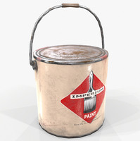Paint Can Retro Game Ready PBR Textures