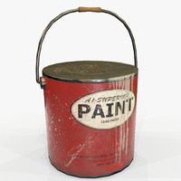 Paint Can Vintage Game Ready PBR Textures