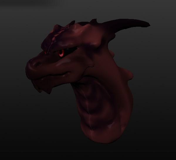 simple dragon head 3D model