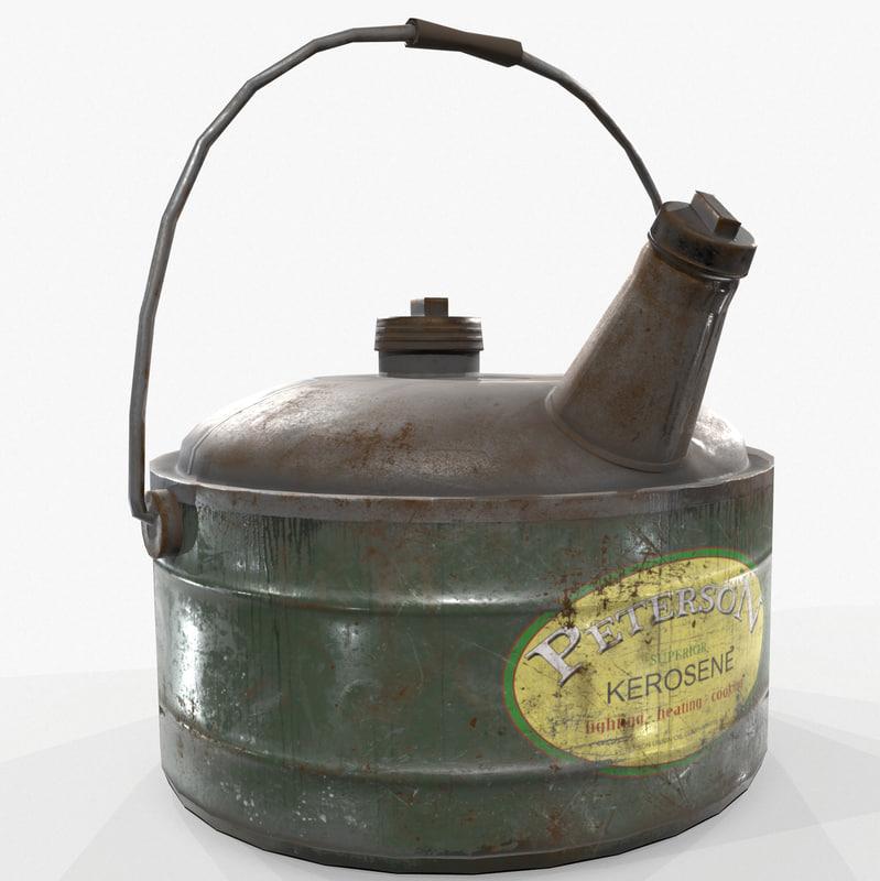 3D model ready vintage kerosene gas