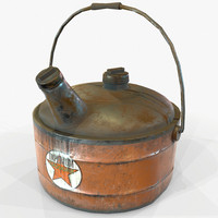 Vintage Retro Gas Can Game Ready PBR Textures