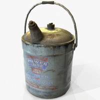 3D ready vintage retro oilcan