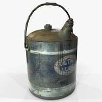 Oilcan Retro Vintage Game Ready PBR Textures
