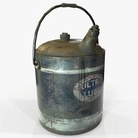 ready vintage oilcan pbr 3D model