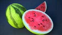3D watermelon model