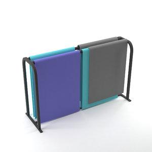 yoga mats rack model