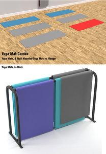 3D model yoga mats rack