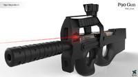 3D p90 gun