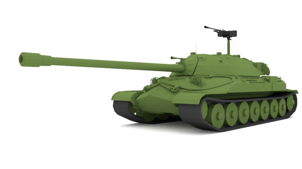 3D model blender is-7 military tank