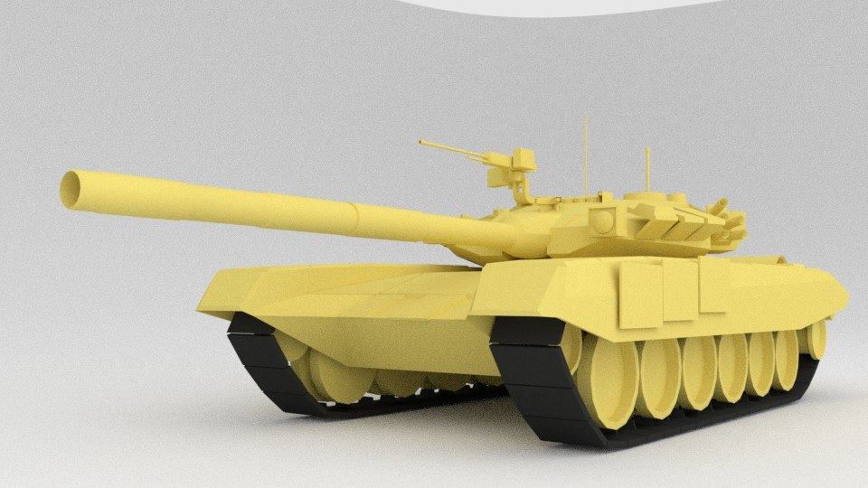 3D modern t-90 military tank model