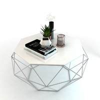 3D set coffee table