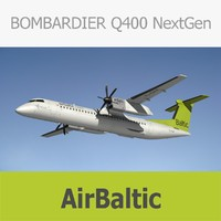 3D model bombardier dash q400 air