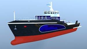 3D boat holiday model